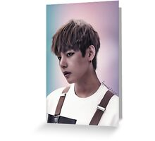 V from B.T.S Greeting Card