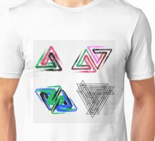 Penrose triangles with crayons Unisex T-Shirt