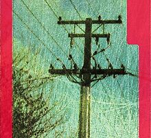iphone case - textured power pole. by Lynne Haselden