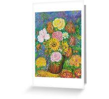 Flowers in a Brown Jug Greeting Card