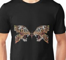 butterfly tiger animals both in one Unisex T-Shirt
