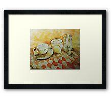 Morning Tea Framed Print