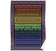 Crystal Celtic Knot Borders Plate 1 ~ Decoupage Paper Poster