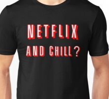 Netflix and Chill Black Unisex T-Shirt