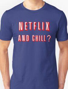 Netflix and Chill Black T-Shirt