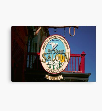 No Name Saloon Canvas Print
