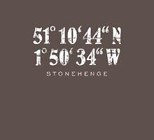 Stonehenge Coordinates Vintage White Unisex T-Shirt