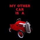 My Other Car Is A Hot Rod (on black) - iPhone Case by Bryan Freeman