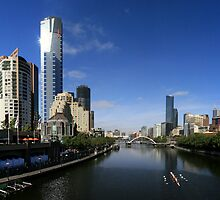 YARRA RIVER MELBOURNE PANORAMA by Russell Charters