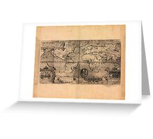 Map of the World (1581) Greeting Card