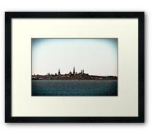 Tallinn Silhouette Framed Print