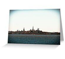 Tallinn Silhouette Greeting Card