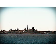 Tallinn Silhouette Photographic Print