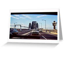 1968 SYDNEY HARBOUR BRIDGE TRAFFIC Greeting Card