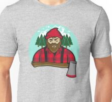 Bearded Lumberjack and axe Unisex T-Shirt