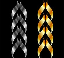 Design element in gold and silver  by Shawlin Mohd