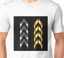 Design element in gold and silver  Unisex T-Shirt