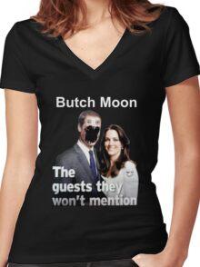 Butch Moon T-Shirt 2 Women's Fitted V-Neck T-Shirt