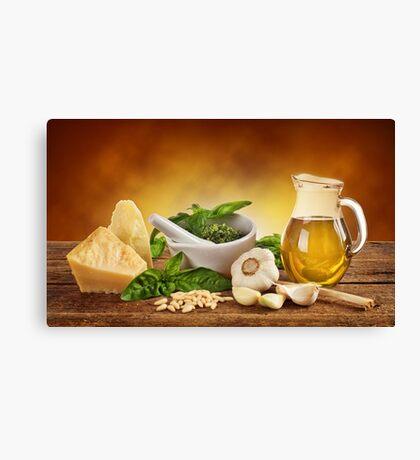 Pesto Genovese ingradients Canvas Print