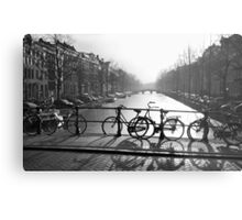 Bicycles on the Bridge Metal Print