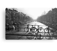Bicycles on the Bridge Metal Print