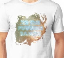 I wonder what they keep in the Pudding Ranch? Unisex T-Shirt