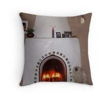 First Fire of the Season Throw Pillow
