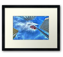 Look up Patriot Framed Print