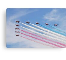 The Red Arrows at Airbourne Canvas Print