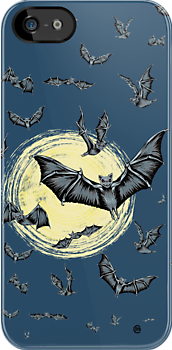 Bat Swarm (iPhone Case) by CarolinaMatthes