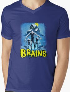 BRAINS Mens V-Neck T-Shirt