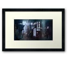 Cyberpunk Street at night Framed Print