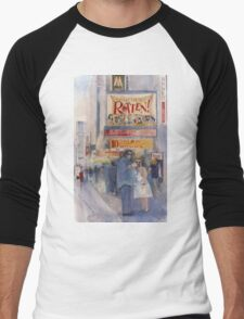 Something Rotten - Broadway Musical - Selfie - New York Theatre District Watercolor Men's Baseball ¾ T-Shirt