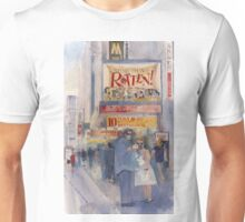 Something Rotten - Broadway Musical - Selfie - New York Theatre District Watercolor Unisex T-Shirt