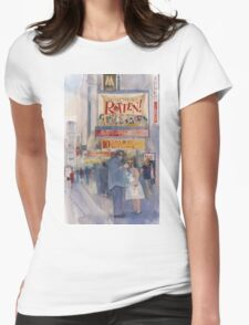 Something Rotten - Broadway Musical - Selfie - New York Theatre District Watercolor Womens Fitted T-Shirt
