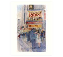 Something Rotten - Broadway Musical - Selfie - New York Theatre District Watercolor Art Print