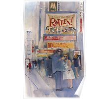 Something Rotten - Broadway Musical - Selfie - New York Theatre District Watercolor Poster