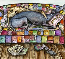 A sofa isn't a sofa without a hound by Elle J Wilson