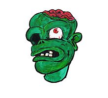 Halloween Green Zombie Brain Photographic Print