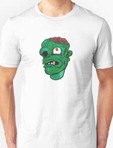 Halloween Green Zombie Brain Unisex T-Shirt