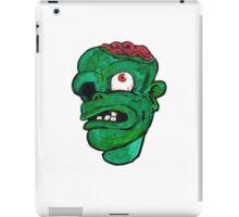 Halloween Green Zombie Brain iPad Case/Skin
