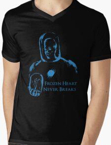 Mr Freeze FHND Black Mens V-Neck T-Shirt