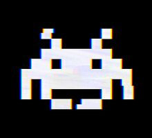 Space Invaders Alien Glitch by Dominic Toms