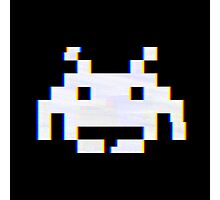 Space Invaders Alien Glitch Photographic Print