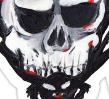 Halloween Spooky Skull Spider Sticker