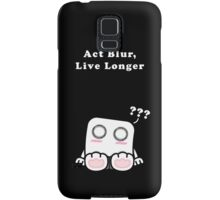 Act Blur, Live Longer (Dark) Samsung Galaxy Case/Skin