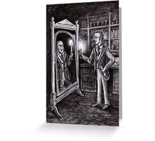 Dr. Jekyll and Mr. Hyde - Dark Mirror Greeting Card