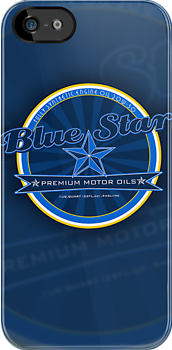 Blue Star Retro Motor Oil logo by Autographics
