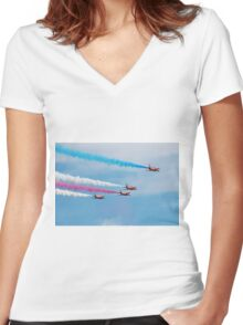 Red Arrows display team Women's Fitted V-Neck T-Shirt