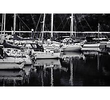 Boats at Peel Harbour Photographic Print